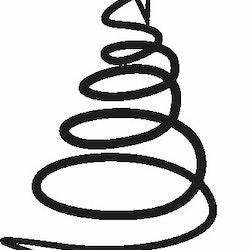 2473 - Gummistämpel God Jul svirlig gran