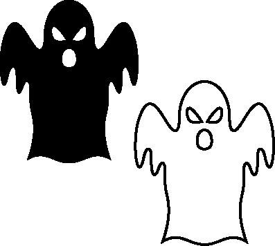702- Gummistämpel 2 st spöken