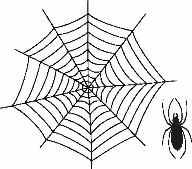 705- Gummistämpel Spindelnät m spindel