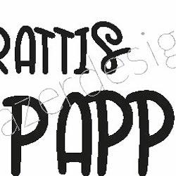 645- Gummistämpel  Grattis PAPPA