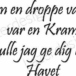 393-Gummistämpel Om en droppe vatten var en Kram.....