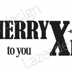 2020 - Gummistämpel Merry Xmas