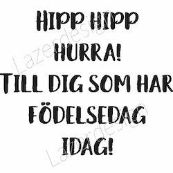 439-stämpel Grattis Hipp Hipp....