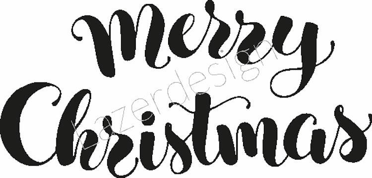 2025 -Stämpel Merry Christmas