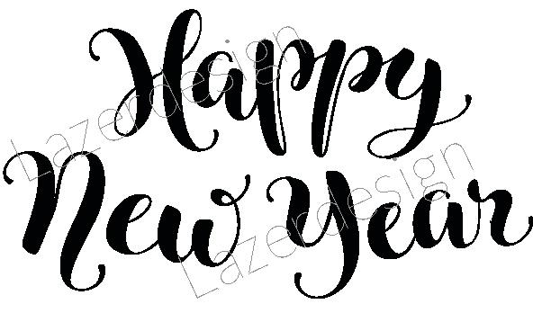 2026 -Stämpel Happy New Year