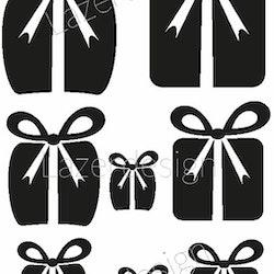 1268-Stämpel Set m julklappar