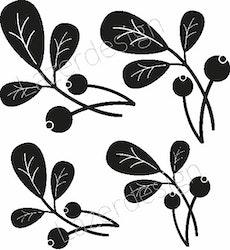 1163-Stämpel set  lingonris