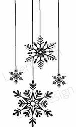 1289-Stämpel Hänge  snöstjärnor