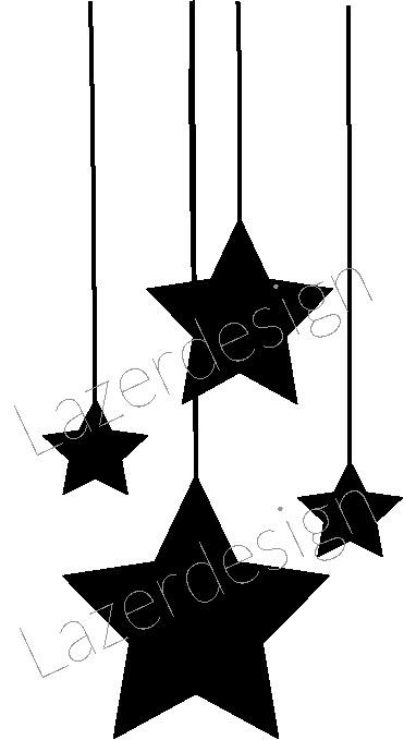 1290-Stämpel Hänge stjärnor