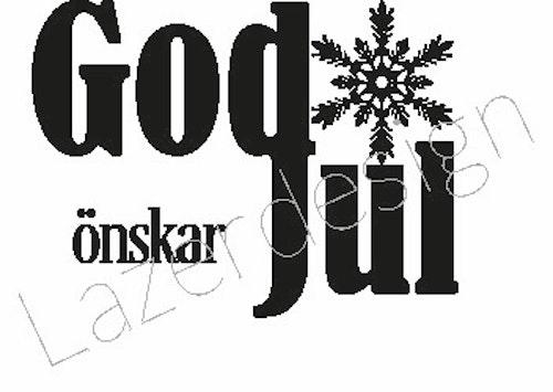 24133 - Stämpel God Jul stjärna liten
