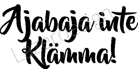 2499 - Stämpel Ajabaja inte...