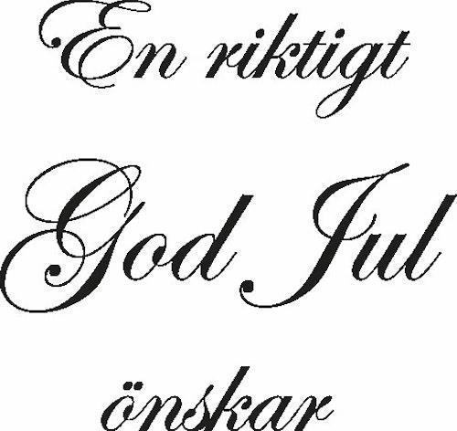 2466 - Stämpel En riktigt God JUL.....