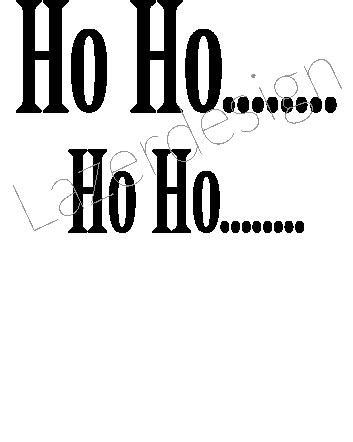 24127 - Stämpel Ho Ho... 2 storlekar