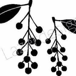 1164-Stämpel  Gren m hänge