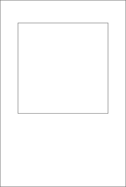 3263-Stencil  fyrkantig schablon 10,4 x 15,5 cm