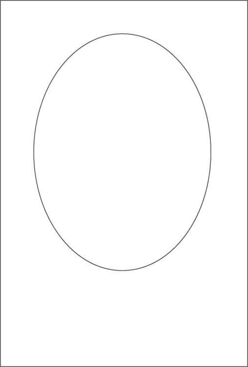 3264-Stencil Oval schablon till kort mm