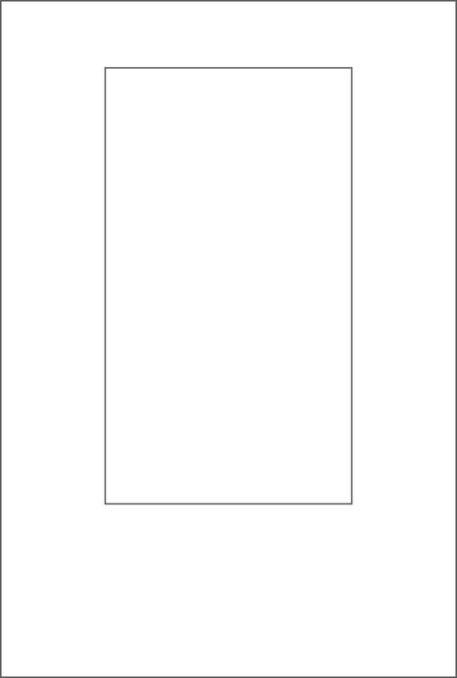 3266-Stencil Rektangulär schablon till kort mm