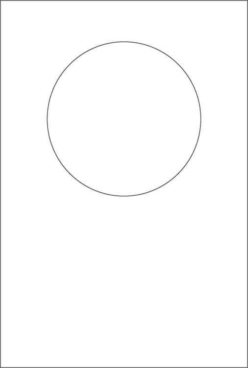 3267-Stencil Rund schablon till kort mm