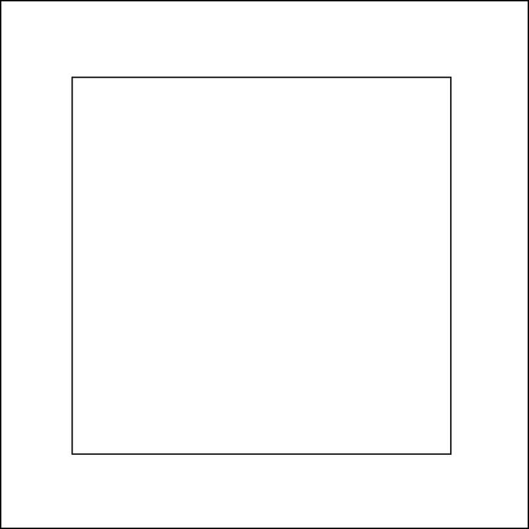 3232-Stencil  Fyrkantig schablon 14x14 cm