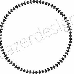24123-Stämpel  Ring 2,5 cm i diam
