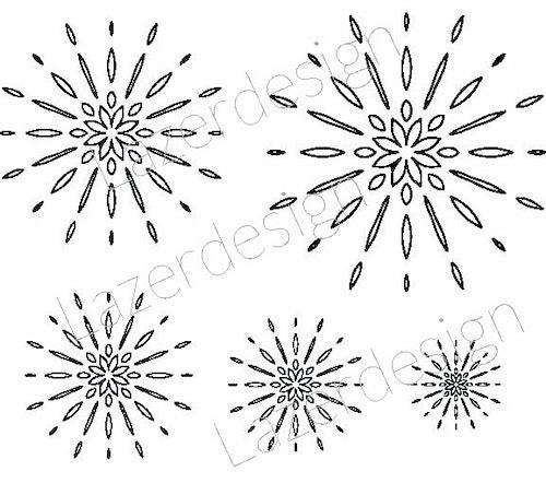 1281-Stämpel  Set stjärnor