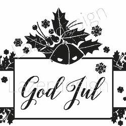 1295 - Stämpel God Jul tag