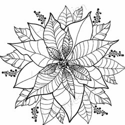 12101 - Stämpel Julstjärna