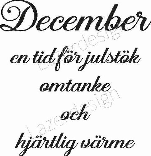 24141 - Stämpel December en tid för....