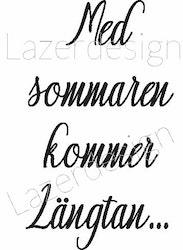 8139-Stämpel Med sommaren kommer....