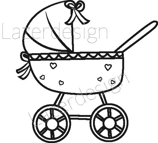 202 Stämpel Barnvagn