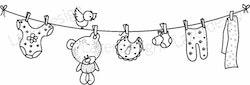 203 Stämpel Baby klädsträck
