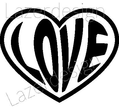 2035 stämpel Hjärta LOVE