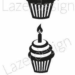1168 stämpel Cupcake ljus 3 storlekar