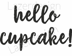 2039-Stämpel hello cupcake