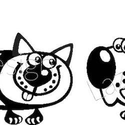 215 Stämpel Katt o Hund