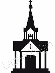 651 Stämpel Liten kyrka
