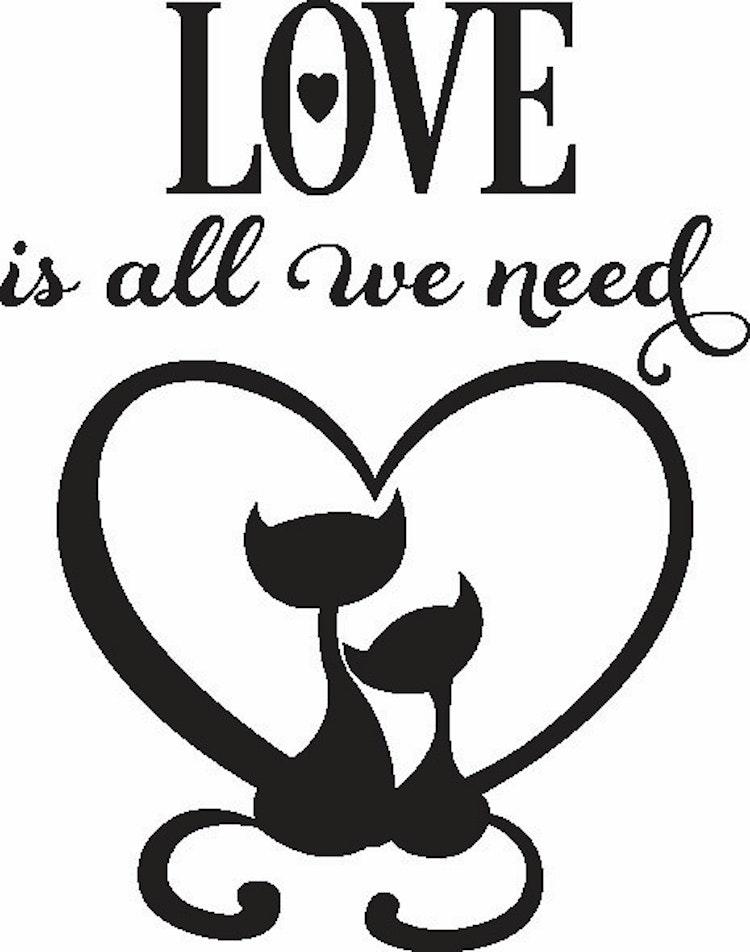 2041-Stämpel Love is all we need