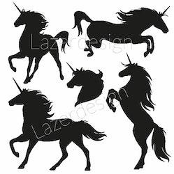228-Stämpelset Unicorn