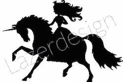 229-Stämpelset Prinsessa rider