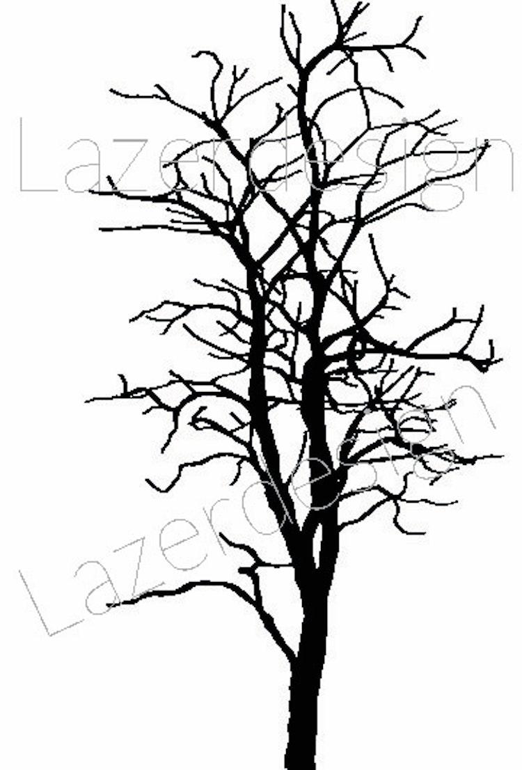 583-Stämpel Träd