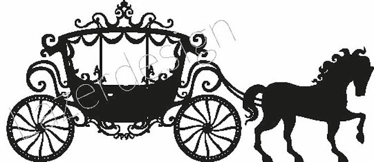 232-Stämpel Häst och vagn