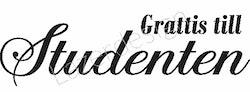 658-Stämpel  Grattis till Studenten