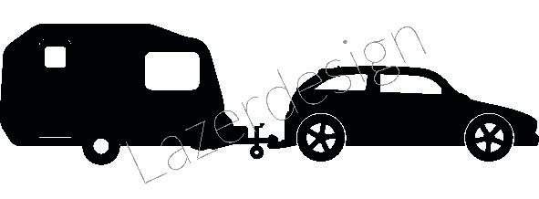 14161-Stämpelset Husvagnsekipage