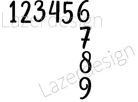 2608-Stämpel  Hörna siffror
