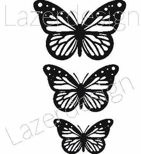 2616-Stämpel  set mini fjäril