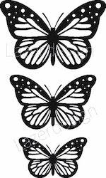 2617-Stämpel  set  fjäril