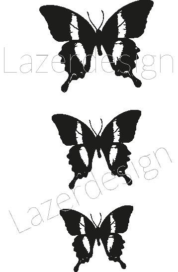 2610-Stämpel  set  fjäril 3 olika