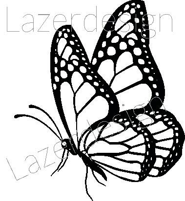 2607-Stämpel  Fjäril