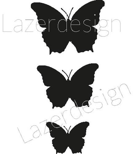 2609-Stämpel  set mini fjäril