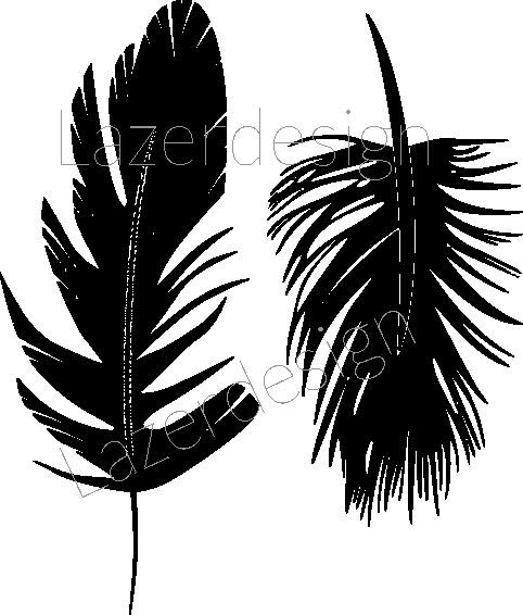 2603-Stämpel  Fjädrar